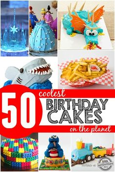 50 Coolest Birthday Cakes on The Planet Every birthday we want to outdo the last by creating the coolest birthday cake ever! If you are planning a birthday party, you might want to check out Cool Birthday Cakes, Birthday Fun, Birthday Party Themes, Birthday Ideas, Fancy Cakes, Cute Cakes, Yummy Cakes, Planet For Kids, 50th Cake