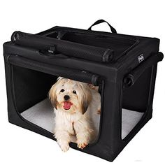 Petsfit 24x18x17 Inches Travel Pet Home Indoor/Outdoor For Small dog Steel Frame Home,Collapsible Soft Dog Crate(Black) *** Additional info @