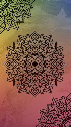 Mandala Art, Mandalas Drawing, Mandala Tattoo, Mandala Design, Cute Patterns Wallpaper, Cool Wallpaper, Wallpaper Backgrounds, Doodle Pages, Doodle Art