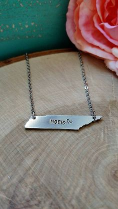 Check out this item in my Etsy shop https://www.etsy.com/listing/259365584/tennessee-necklace-home-necklace