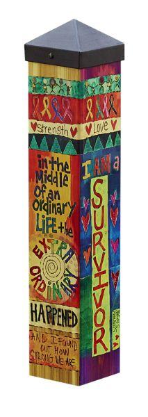 "Quirks of Art | Cancer Survivor 20"" Mini Art Pole"