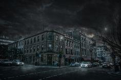 Hobart CBD Photoshop Composite Edit - Quick How It's Done