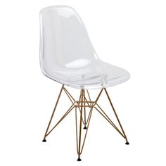 Banks Acrylic and Gold Side Chair - DS