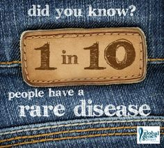 Rare Disease Statistics -- 1 in 10 people have a rare disease and you're looking at the pin board of one of them!