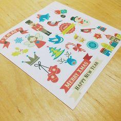 Happy New Year. Follow us on the Instagram @papypaper. #newyear #merrychristmas #Stikers #planners #plannersprintable #printablestickers #erincondren #kikkik #filofax #plumpaper