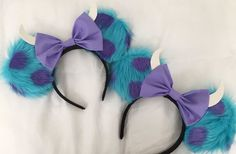 Monsters Inc Sully Mickey Ears Unique Disney Ears That Open Up a Whole New World of Vacation Ideas: Taking a trip to a Disney park simply isn't the same without mouse ears. Disney Diy, Diy Disney Ears, Disney Mickey Ears, Disney Crafts, Cute Disney, Mickey Ears Diy, Disney Style, Disney Land, Disney Babies