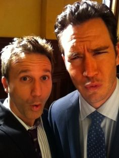 Breckin Meyer and Mark-Paul Gosselaar from Franklin and Bash...what a GREAT show!!