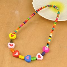 Colorful Wood Necklaces for Kids, Children's Day Gifts