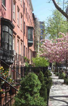 SPRING on 10th street - Greenwich Village - NYC..... photo by Jim Fairfax