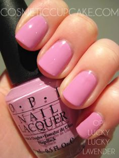 OPI lucky lucky lavender... just got this saturday, so pretty.
