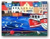 Seagulls in The Harbour, Pittenweem SOLD  » Click to zoom ->