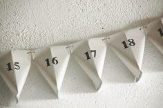 Paper Countdown Calendar. $26.90, via Etsy.