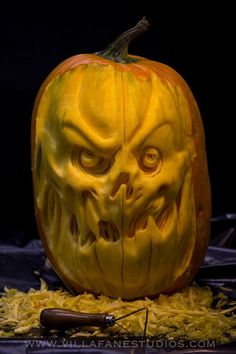 Scarecrow from Batman Pumpkin Sculpture/Carving by Ray Villafane