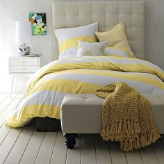 yellow striped comforter | READY FOR MORE AMAZING DESIGN IDEAS? CHECK BELOW!