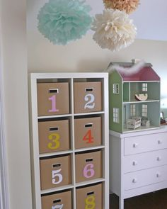 ikea expedit in kids rooms...