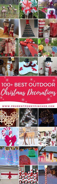 100 Best Outdoor DIY Christmas Decorations