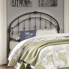 Ashley Furniture Signature Design  Nashburg Metal Headboard  Queen Size  Vintage Casual  Headboard Only  Bronze Finish * Learn more by visiting the image link. (This is an affiliate link)