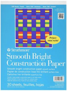 Smooth, heavyweight construction paper sheets x Assorted colors, 30 sheets per pad. This construction paper is really awesome to work with. I've used it to make paper chain decorations with kids Lisa, Paper Chains, Construction Paper, How To Make Paper, Amazon Art, Sewing Stores, News Blog, Sewing Crafts, Learning