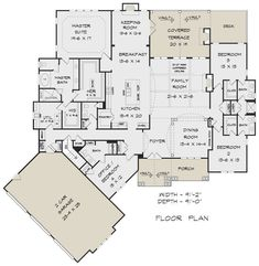 House Plan - Craftsman Plan: Square Feet, 4 Bedrooms, Bathrooms - Happy Home , Best House Plans, Dream House Plans, House Floor Plans, My Dream Home, Dream Houses, The Plan, How To Plan, Jack And Jill Bathroom, Craftsman House Plans