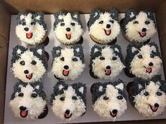 Husky Pup Cakes by Sugar Chic Bakery