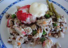 Ensalada de arroz y surimi de langostino