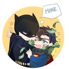 [Superman x Batman] Dc Comics, Superman X Batman, Lego Dc, Superbat, Batman Family, Clark Kent, Cute Chibi, Nightwing, Joker And Harley