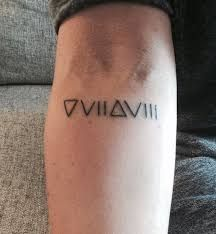 2017 trend Geometric Tattoo - Mysterious Glyph Tattoos and Meanings.