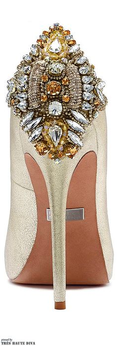 Badgley Mischka bejeweled high heel pumps | @ The House of Beccaria
