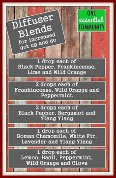essential oil diffuser blends for energy