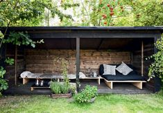 Why Teak Outdoor Garden Furniture? Outdoor Garden Furniture, Outdoor Rooms, Outdoor Sofa, Outdoor Gardens, Outdoor Living, Outdoor Decor, Outdoor Shelters, Interior Garden, Garden Cottage