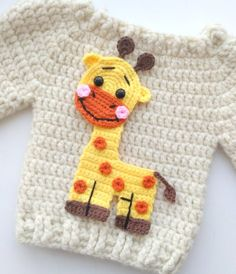 giraffe applique Crochet pattern, cute applique pattern for bags, crafting, scrapbooking and nursery wall art! Crochet Giraffe Pattern, Crochet Blanket Patterns, Crochet Gifts, Crochet Baby, Crochet Phone Cases, Crochet Mobile, How To Start Knitting, Stuffed Animal Patterns, Baby Knitting