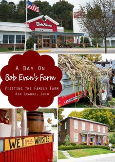 Take the family to visit one of Ohio's best kept secrets; Bob Evans Farm in Rio Grande, Ohio. The original home of Bob and Jewell Evans is full of history, beauty, and fun for the whole family! Day Trips In Ohio, One Day Trip, Weekend Trips, Bodega Bay Camping, Camping In Ohio, Camping Cabins, Bar Lounge, Ohio Festivals, Camping World Locations