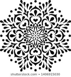 Mandala Doodle, Mandala Art, Stencil Painting, Body Painting, Vector Pattern, Pattern Design, Paisley Background, Geometric Mandala, Silhouette Art