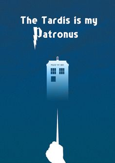 "Minimalist Poster Design ""The Tardis is my Patronus"" done in Photoshop CS 5"