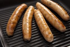 Salmon and Haddock seafood sausages from Kilmore Quay on a grill. Fish Dishes, Seafood Dishes, Fresh Seafood, Sausages, In The Flesh, Salmon, The Cure, Grilling, Recipes