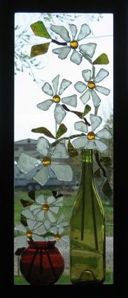 Window Sills - glass mosaic...No instructions on the link, but plenty of ideas...oh..you will need a glass cutter I would imagine.