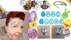 Paas schmink met Bling (Easter face paint with bling)