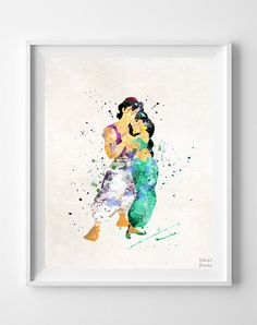 Aladdin and Jasmine, Aladdin Type 2 Print