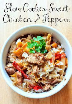 Gluten-Free Slow Cooker Sweet Chicken & Peppers Recipe