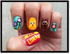 The Lorax 'Truffela Tree' Nails