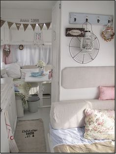 Examples of decorated rv interiors. When we are ready for a camper it will be an older one with cute retro style.