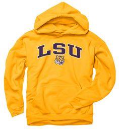 skylerLSU Tigers Youth Gold Perennial II Hooded Sweatshirt