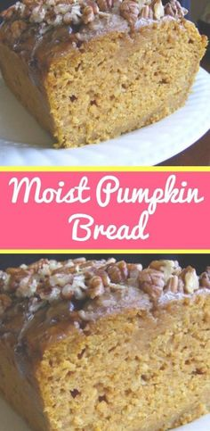 VERY MOIST pumpkin bread with special topping. This makes a very nice gift-givin. VERY MOIST pumpkin bread with special topping. This makes a very nice gift-giving bread. Skinny Recipes, Ww Recipes, Fall Recipes, Gourmet Recipes, Snacks Recipes, Waffle Recipes, Burger Recipes, Candy Recipes, Quick Recipes