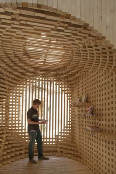 atelier vecteur: wooden welcome pavilion