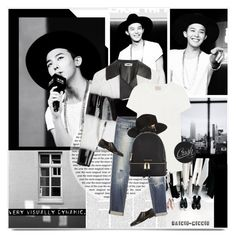 """Visually Black and White"" by rainie-minnie ❤ liked on Polyvore featuring Fendi, rag & bone, Levi's, Tildon, Anthony Mathews and Michael Kors"