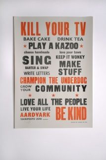 Kill Your TV Print