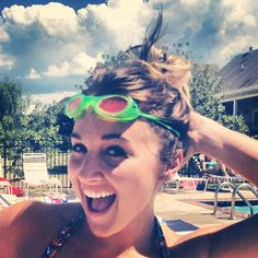 One thing @carmen1gn believes is that you're never too old to wear goggles. #summerfun #whilewereyoung - 1 Girl Nation