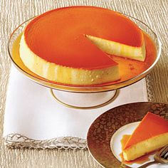 I've made this several times. The creamiest flan ever - my Cuban friends rank it as a favorite. Lots of recipe sharing on this one! Caramel-Cream Cheese Flan | MyRecipes.com, from Iryna