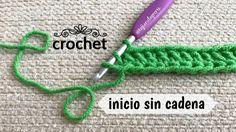Crochet: cómo empezar un tejido sin tejer la cadena de inicio al principio