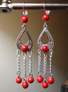 Nice red set of earrings!